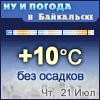 Ну и погода в Байкальске - Поминутный прогноз погоды